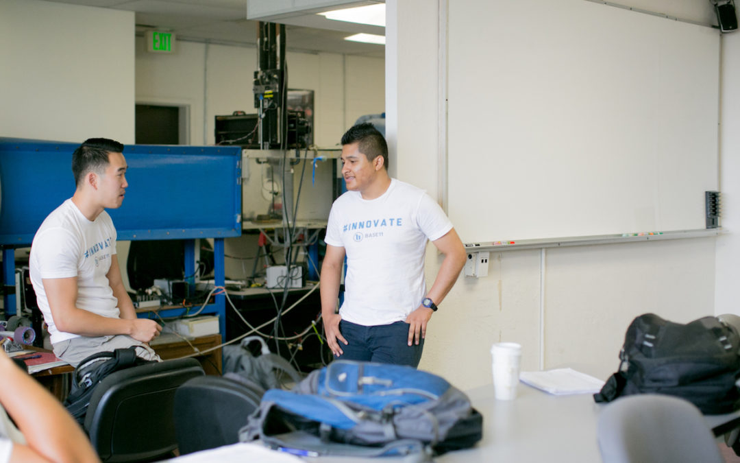 Hugo Villafana in the lab at USC.